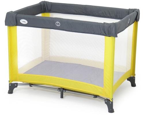 צעיר לול קמפינג / מיטה ניידת לתינוק איזי גו Easy Go באפור צהוב Twigy KV-45