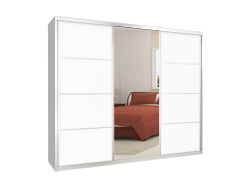 אולטרה מידי ארון הזזה 3 דלתות דגם MTC 240 - דלת מראה ודלת מלמין - ארונות ID-61