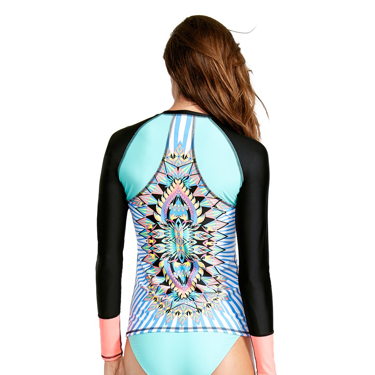 תוספת חולצת גלישה נשים BODY GLOVE/ LOOK AT ME SURF'S UP - - מוצרי לייקרה TY-99