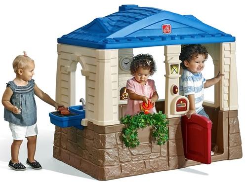 עדכני בית משחק לילדים ארבע העונות עם גריל ומטבח חום 7887 STEP2 - STEP2 XD-09