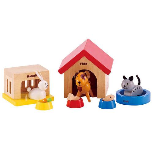 מצטיין אביזרים לבתי בובות האפה - סט חיות משפחה לבית בובות HAPE - Hape WF-15