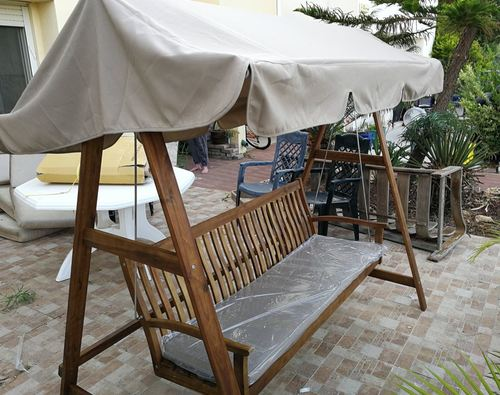 סופר נדנדת גינה מעץ תלת מושבית דגם שילה - נדנדות גינה DI-14