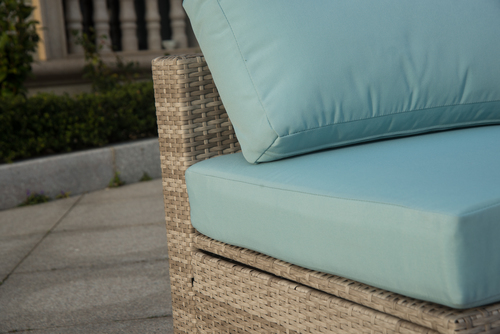 Fine Broyerk 6 Piece Grey Blue Outdoor Rattan Sectional Seating Set Download Free Architecture Designs Aeocymadebymaigaardcom