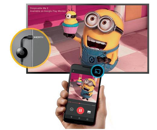 סטרימר Google chromecast 2 צפיה מטלפון סלולרי