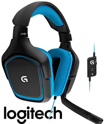 מאוד אוזניות גיימינג +מיקרופון 7.1 Logitech G430 - אוזניות גיימינג VY-82
