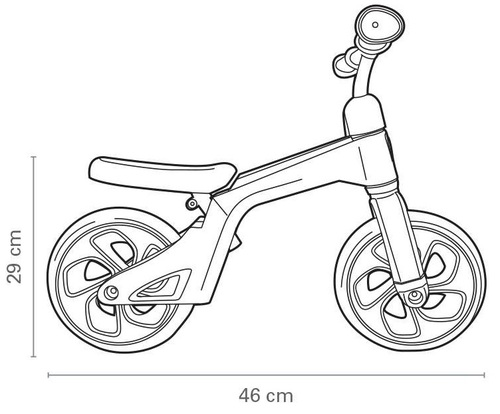 Tech Bicycle אופני איזון עם כיסא וידית מתכווננים