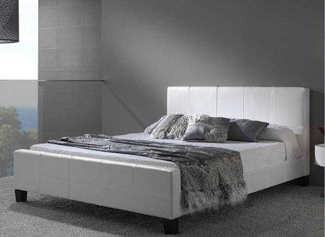 מדהים מיטת וחצי מבית GAROX דגם BLANCO מרופדת עור אמיתי - Garox - מיטה BF-51