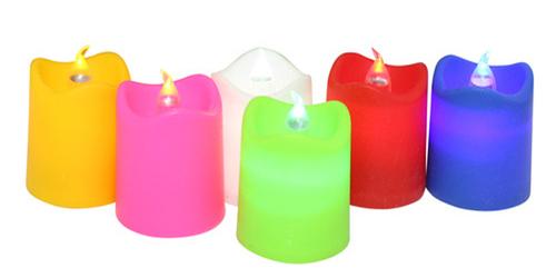 האחרון מארז נרות לד פלסטיק צבעוני - חנוכה GD-73