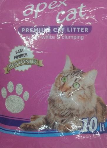 האופנה האופנתית אפקס קט Apex Cat חול מתגבש אנטי בקטריאלי 10 ליטר - Apex cat - חול LW-99