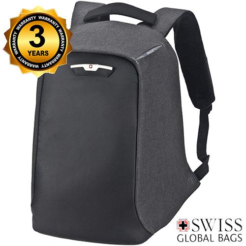 מבריק תיק גב נגד גניבות SWISS PROTECTOR למחשב נייד - תיקים ומזוודות FH-41