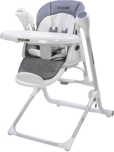 בנפט נדנדה אפור משולבת עם כסא אוכל גבוה | טרמפולינות ונדנדות | מוצרי IU-03