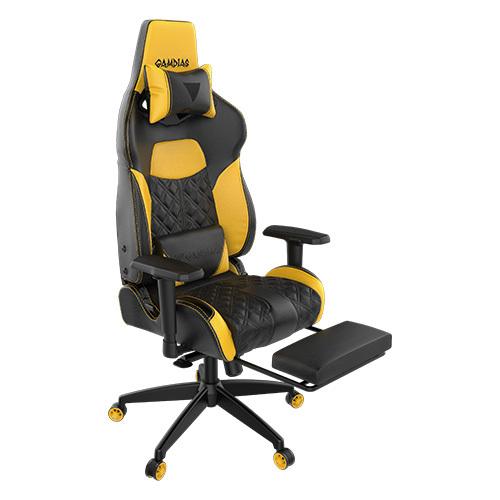 להפליא כיסא גיימרים צהוב עם הדום Gamdias ACHILLES P1 - - כסאות גיימרים AC-16