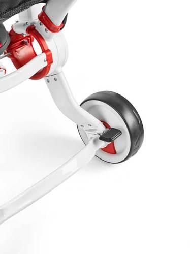 תלת אופן קומפקטי מתקפל גלילאו Galileo Strollcycle עם השכבה - לבן/אדום