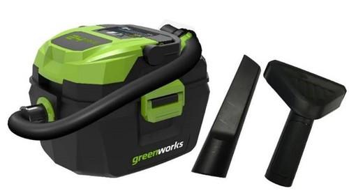 מדהים שואב אבק נטען - מנקה גם נוזלים - greenworks LT-71