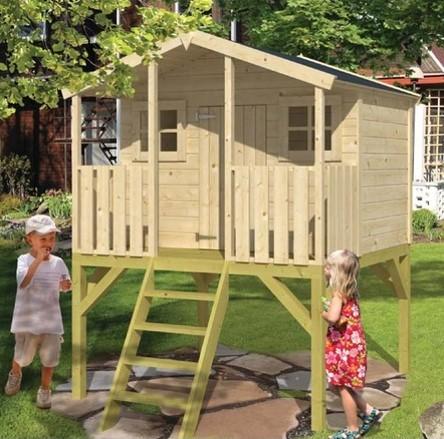 מדהים בית משחק לילדים מעץ פיטר פן טווינדקו SP-52