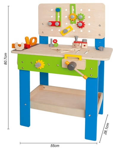 שולחן עבודה מעץ עם איבזור מלא 35 חלקים