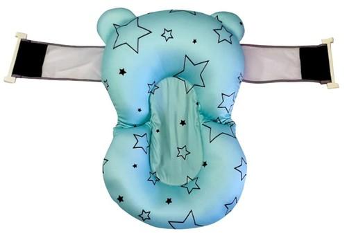 נפלאות צף קל/ כרית אמבטיה לתינוק עם רצועות אבטחה צבע כחול כוכבים סופר XI-97