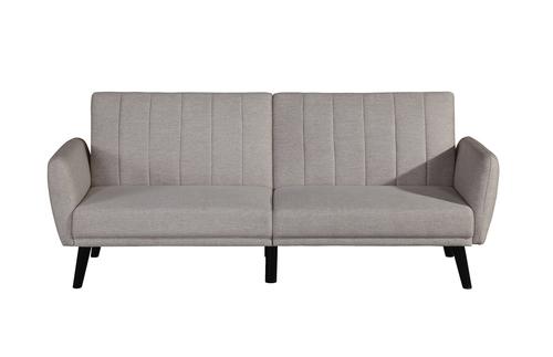 BroyerK Cream Sleeper Futon Sofa Bed