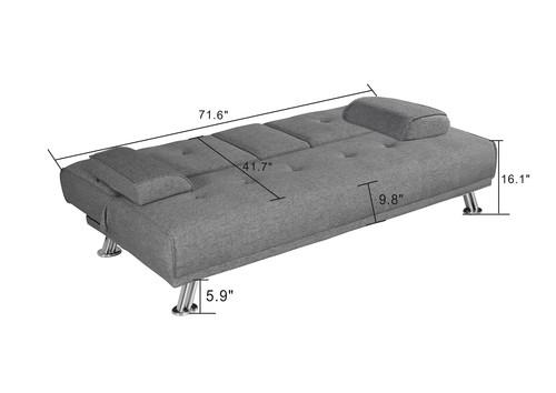 BroyerK 2 Piece Mixed Grey Reversible Sectional Sleeper Sofa ...