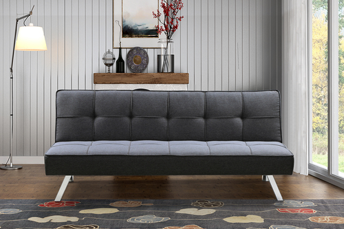 BroyerK 3-Seat Grey Futon Convertible Sofa Bed : BroyerK