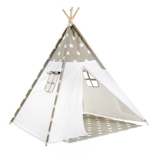 מגניב אוהל טיפי מעוצב לילדים - כוכבים אפורים לורה סוויסרה - Laura Swisra FD-03