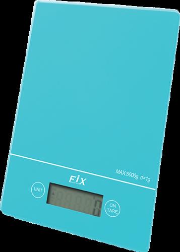 מסודר משקל מטבח דיגיטלי מזכוכית בצבע כחול TJ-82