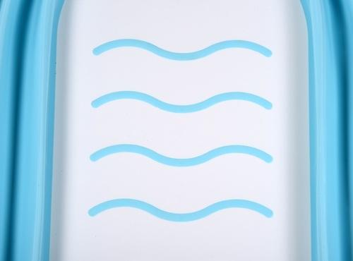 אמבטיה מתקפלת לתינוק עם רגלים מתקפלות ומונע החלקה - לבן