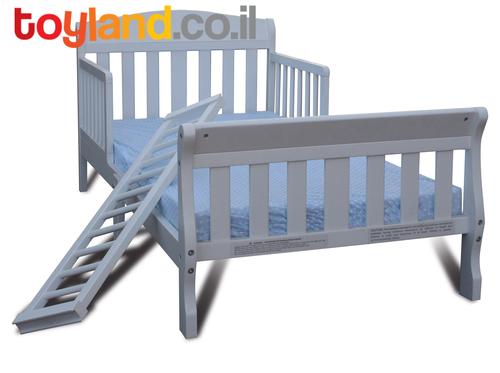 למעלה מיטת מעבר שקד עם מעקה ניתן להסרה (למזרן סטנדרטי)- בשמנת רהיטי טל QB-77
