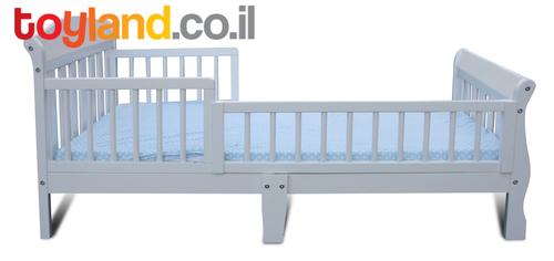 בנפט מיטת מעבר שקד עם מעקה ניתן להסרה (למזרן סטנדרטי)- בשמנת רהיטי טל VB-21