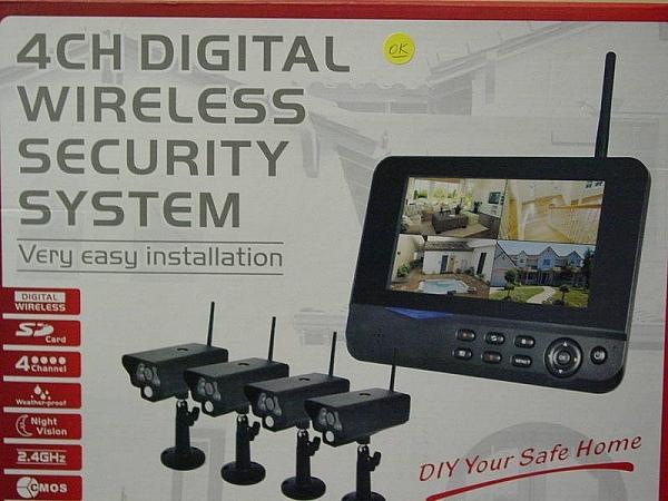 תוספת ערכת מצלמות אבטחה אלחוטיות עם מוניטור מחשב SH-14