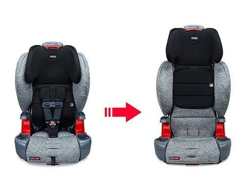 כסא בטיחות ובוסטר קליקטייט Grow With You Clicktight - אפור Spark