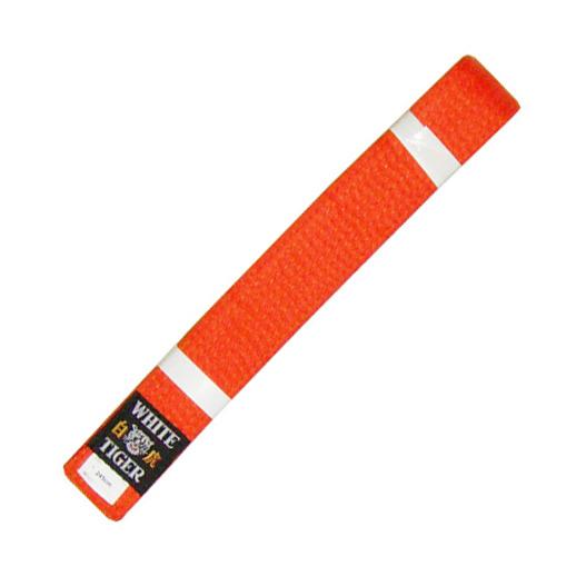 מעולה  חגורת קראטה-ג'ודו ילדים כתומה White Tiger - WHITE TIGER - ביגוד לחימה UW-19