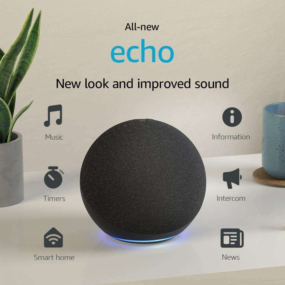 לחץ להגדלת התמונות עבור הרמקול החדש והחכם של אמזון - Amazon Echo 4
