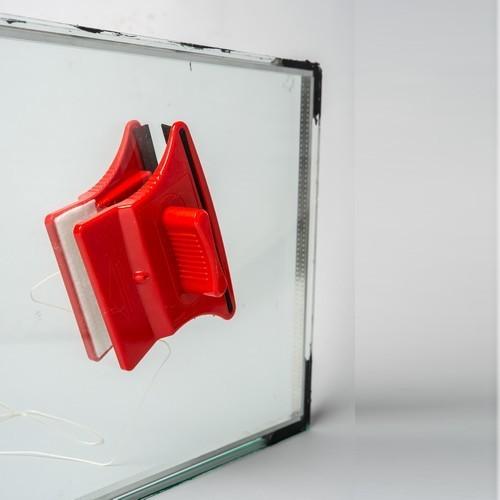 ברצינות מנקה חלונות מגנטי דו צדדי לחלונות כפולים עד 20 ממ - מגבים לריצפה LX-88