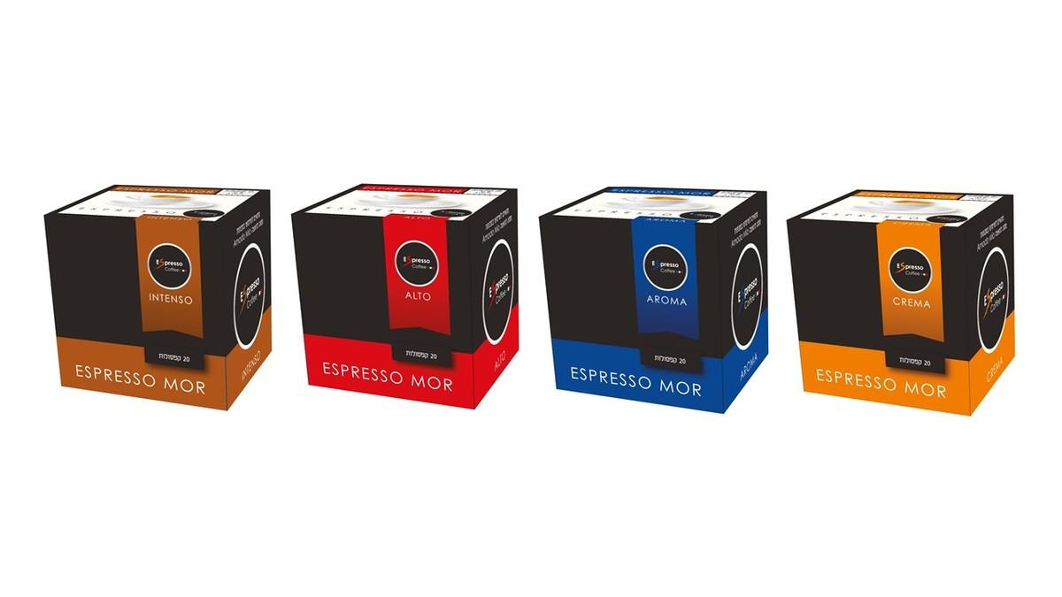 מעולה 100 קפסולות אספרסו מור תואמות Lavazza Amodo Mio Espresso Mor BN-81