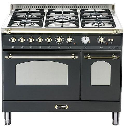 פנטסטי תנור אפיה 90 סמ משולב דו תאי LOFRA מסדרת RUSTIC90 דגם ZM-29