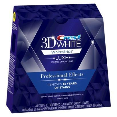 הוראות חדשות קרסט ערכה להלבנת שיניים 40 פסים! crest professional effects HX-56