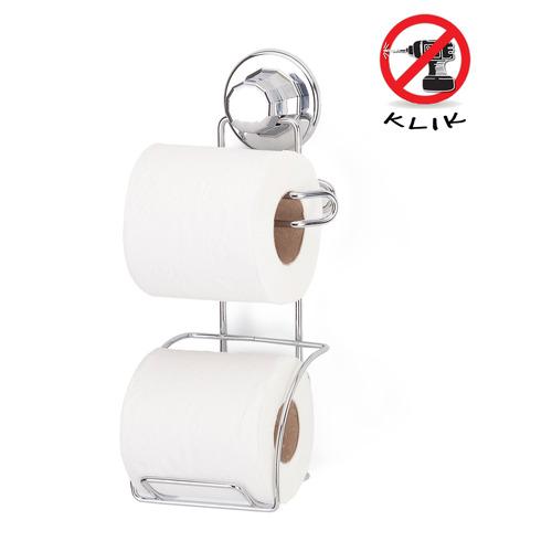אולטרה מידי מחזיק נייר טואלט כפול ואקום KLIK - אביזרי אמבטיה XS-16