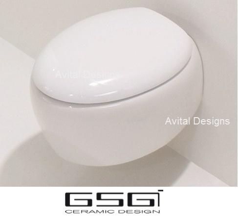 מותג חדש אסלה תלויה דגם TOUCH ביצה מעוצבת תוצרת איטליה מבית GSG - GSG RR-06