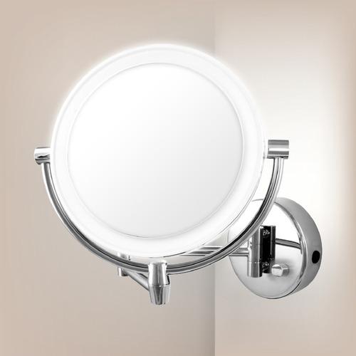 מגניב מראה מגדילה עם תאורה פי 5 דו-צדדית - תאורת LED חדשנית - מראות מגדילות AD-69