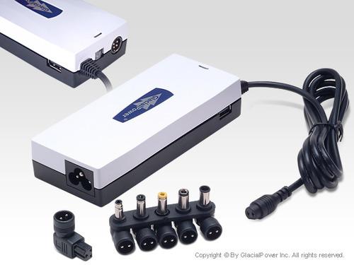מתוחכם מטען אוניברסלי למחשב נייד מבית Glacial Power - כולל חיבור לרכב QR-43